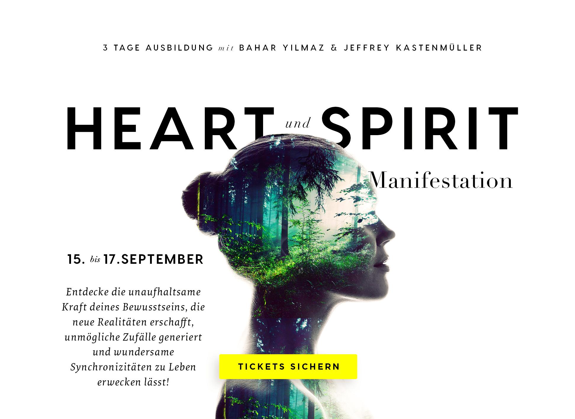 Kurzausbildung: Heart & Spirit Manifestation mit Bahar & Jeffrey (Karlsruhe)
